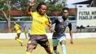 Jackson Macharia of Tusker vs Kisumu All-Stars.