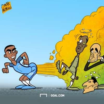 Cartoon Gabriel Jesus' fart copy