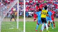 John Bocco scores for Simba Sc vs Mwadui FC.