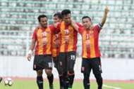Sime Darby FC players celebrating their goal against Shahzan Muda 6/2/2017