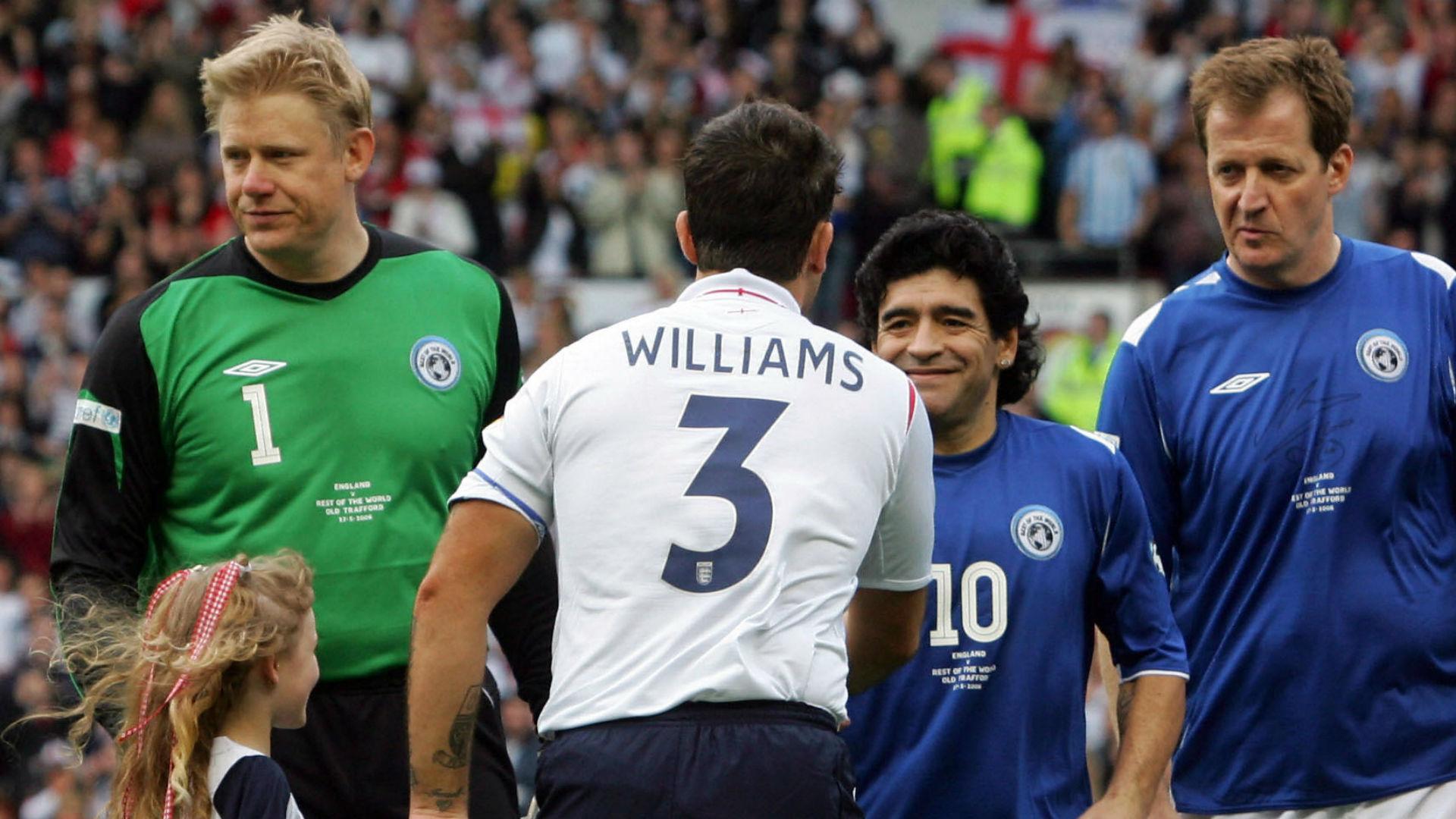 Diego Maradona Robbie Williams UNICEF