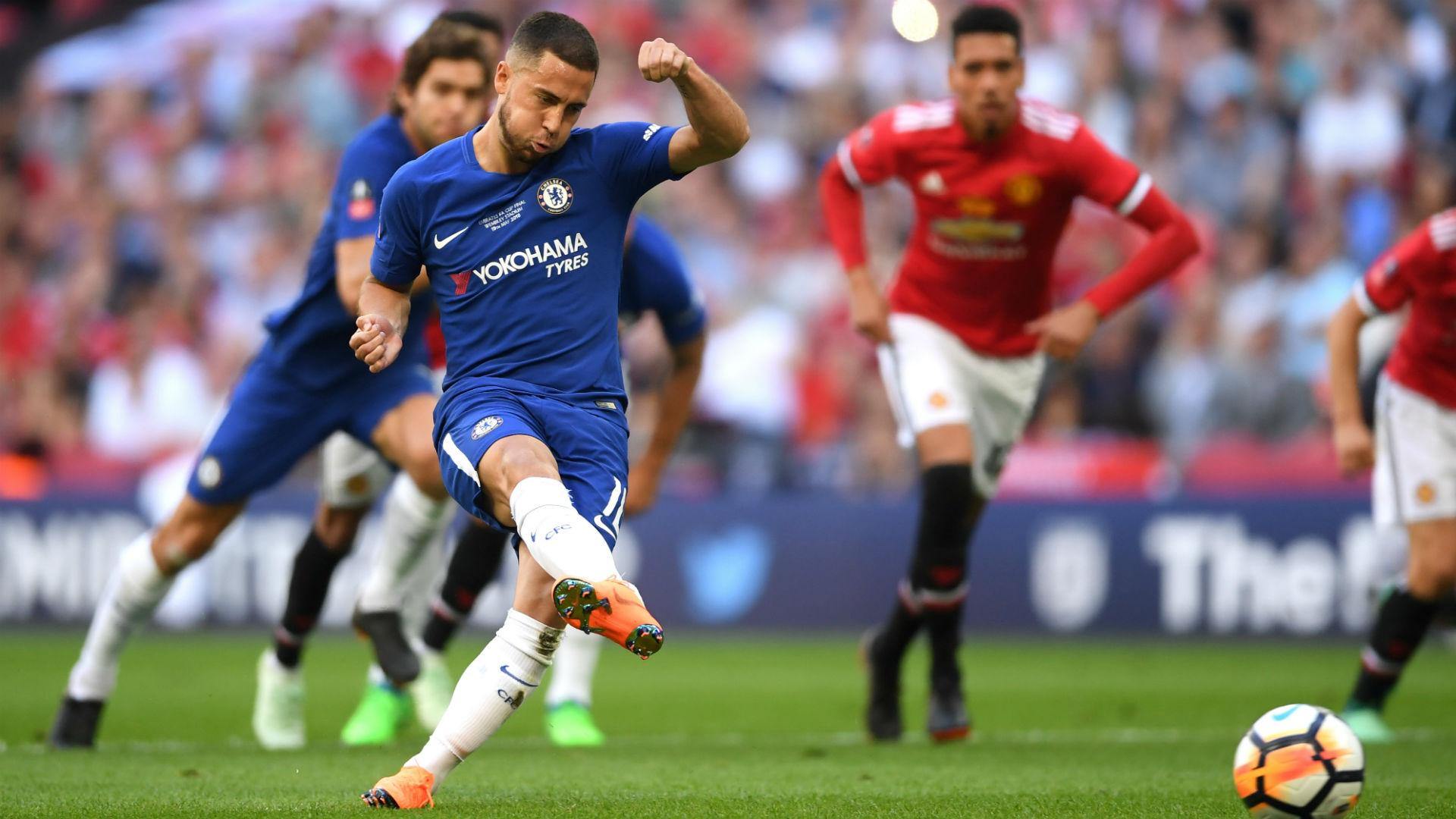 Eden Hazard Chelsea Manchester United FA Cup