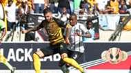 Daniel Cardoso and Thembinkosi Lorch Orlando Pirates and Kaizer Chiefs