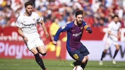 Sergi Gomez Lionel Messi Sevilla Barcelona