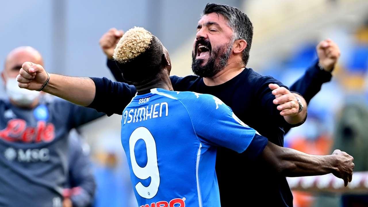 Victor Osimhen Gennaro Gattuso Napoli Atalanta Serie A