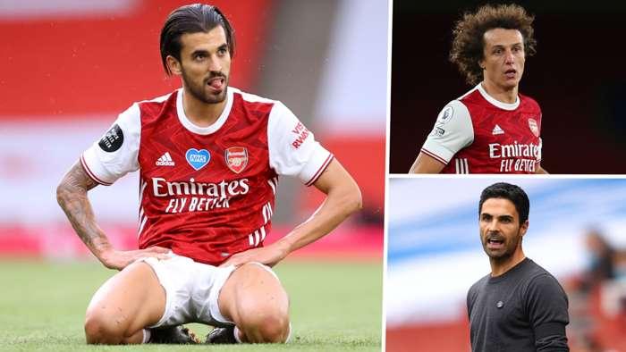 Dani Ceballos David Luiz Mikel Arteta 2020-21 Arsenal GFX