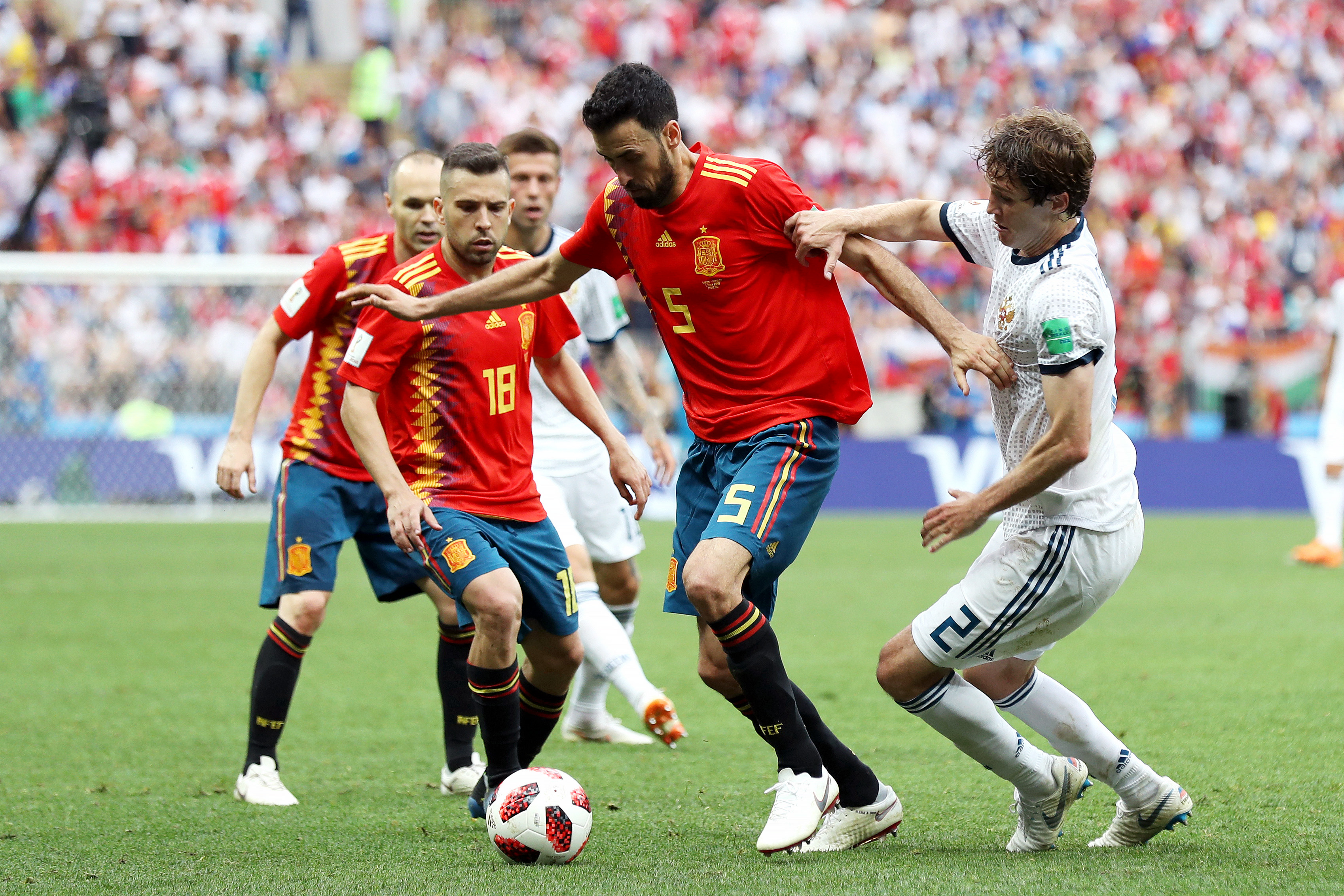 Sergio Busquets Spain Russia World Cup 07/01/18