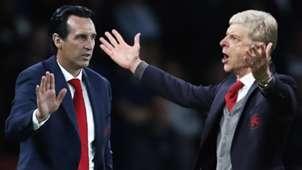 Unai Emery Arsene Wenger Arsenal