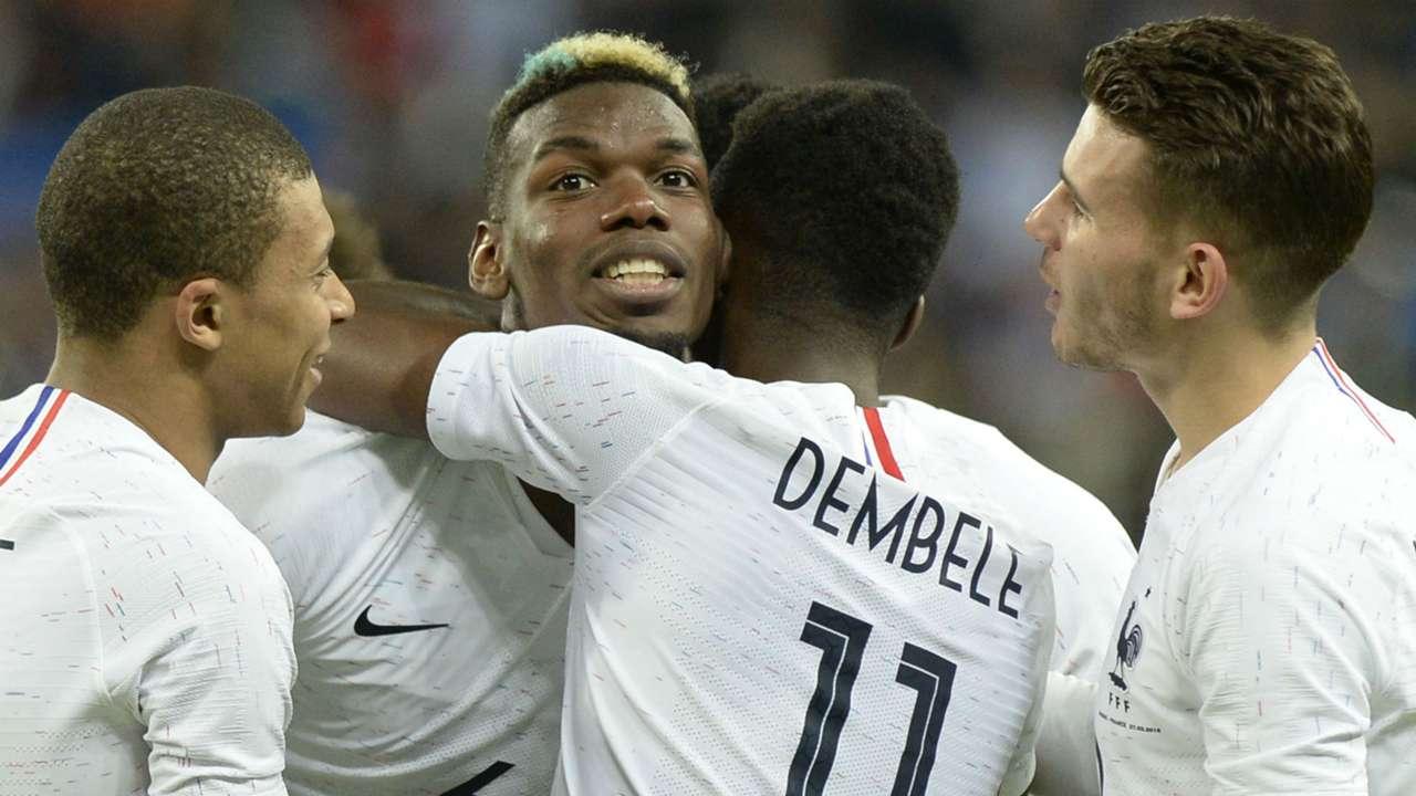 Paul Pogba Russia France Friendly 27032018