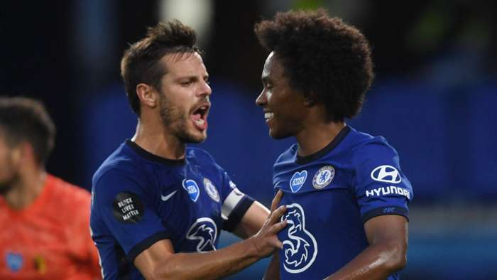 Cesar Azpilicueta Willian Chelsea 2019-20