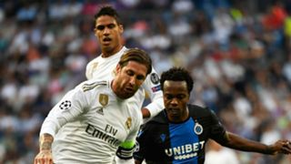 Percy Tau and Sergio Ramos - Real Madrid and Club Brugge October 2019
