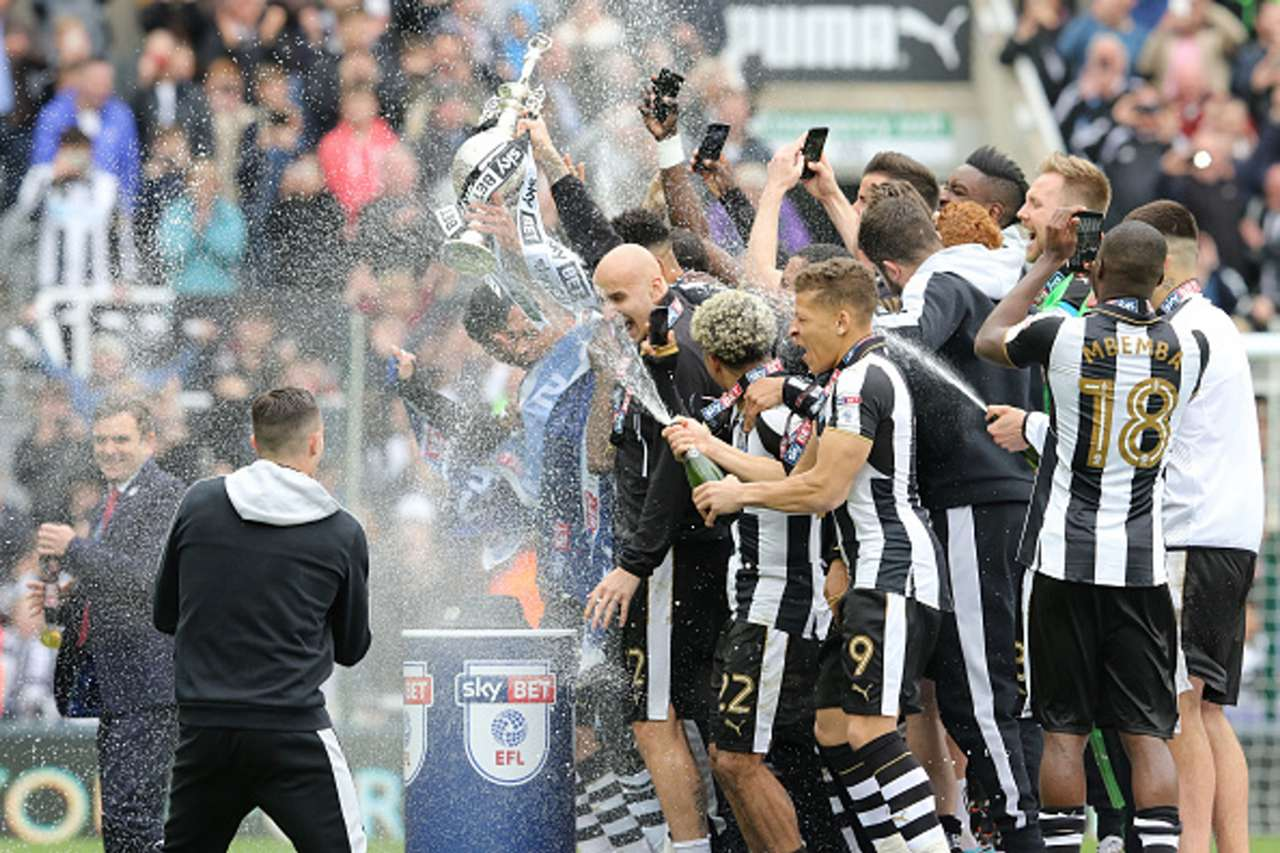 Newcastle United Championship tittle celebration