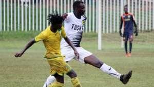 Humphrey Mieno of Tusker vs Kakamega Homeboyz.