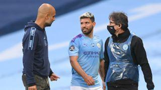Guardiola Aguero Manchester City