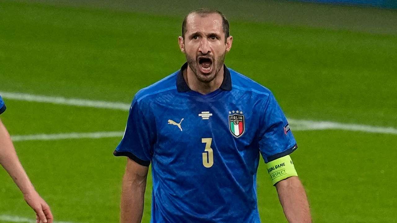 Giorgio Chiellini Italy Spain Euro 2020