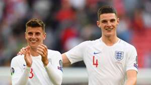 Mason Mount and Declan Rice England