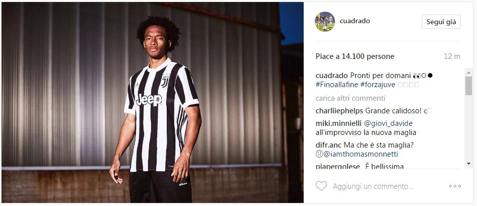 Did Cuadrado accidentally reveal Juventus' new shirt?   Sporting News