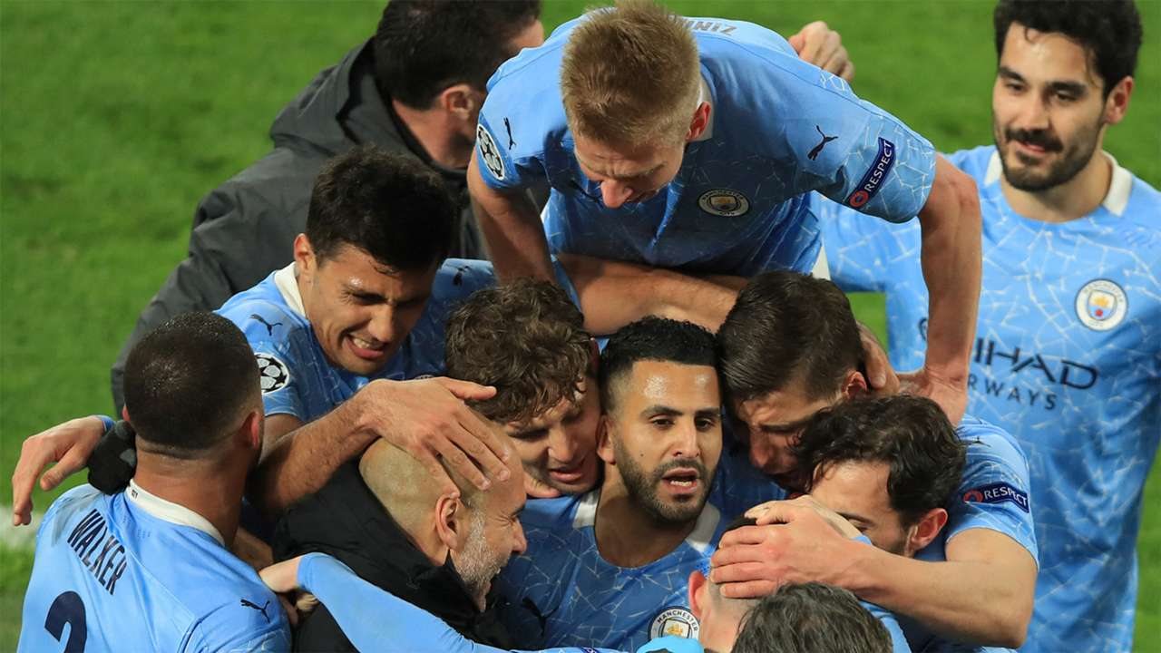 Riyad Mahrez Manchester City Dortmund Champions League GFX