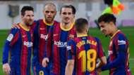 Barcelona celebrate vs Osasuna, La Liga 2020-21