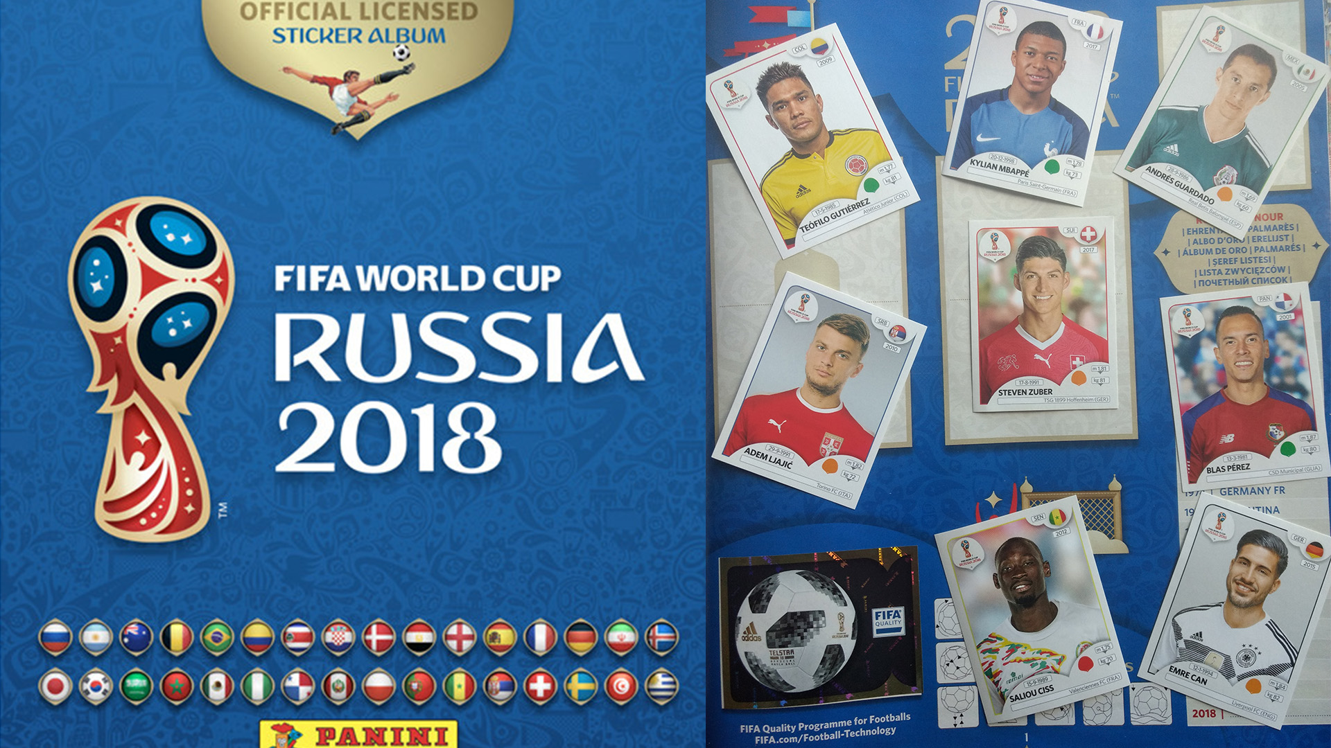 Choose the stickers you need 2 to 384 Panini World Cup 1998 France