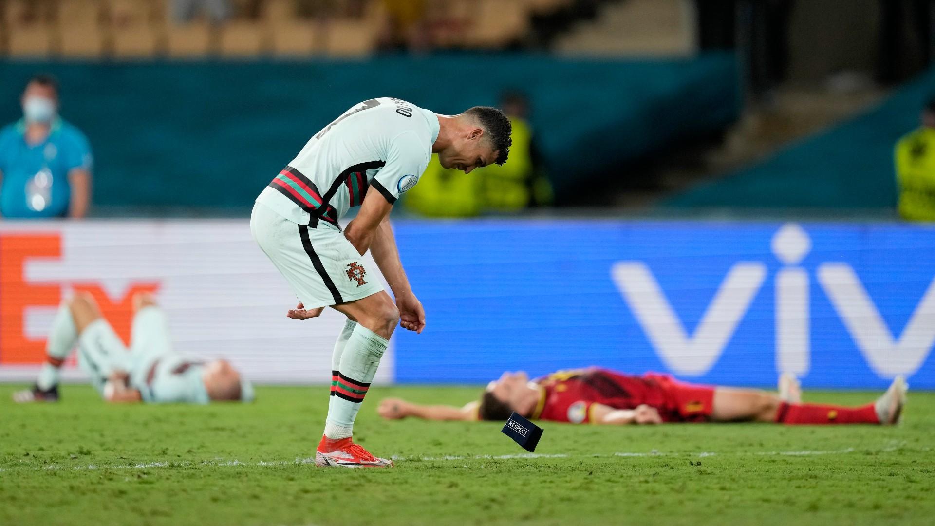 Ronaldo branded 'true captain' by Portugal boss Santos despite Euro 2020 armband exit strop