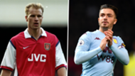 Dennis Bergkamp Arsenal Jack Grealish Aston Villa