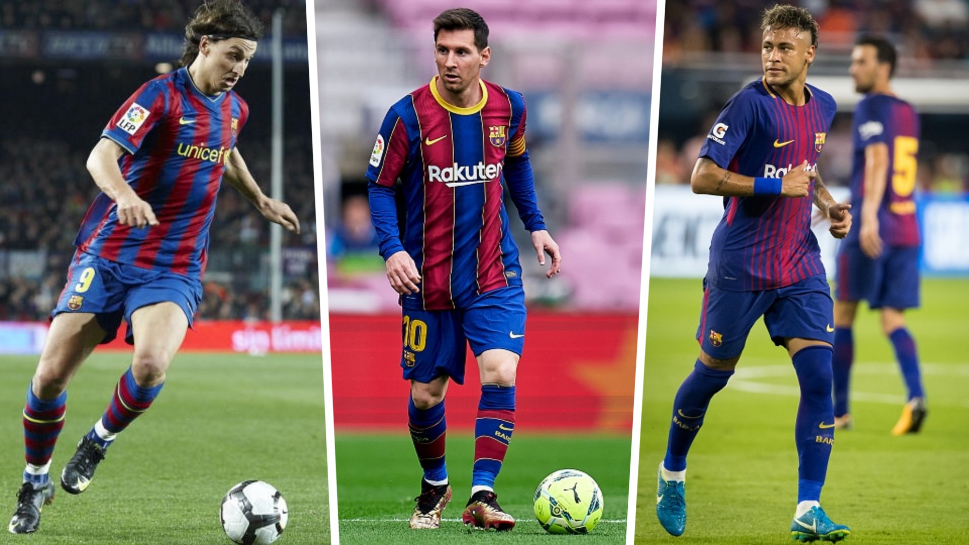 Zlatan Ibrahimovic, Lionel Messi and Neymar - Nine players who played for Barcelona first and then joined PSG