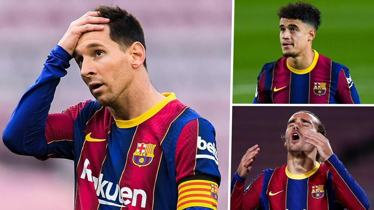 Messi Coutinho Griezmann Barcelona GFX