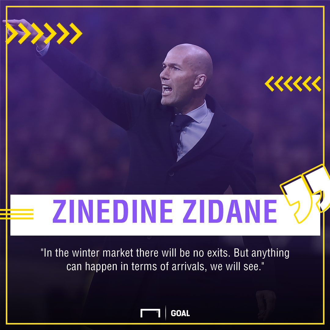 Zinedine Zidane Real Madrid buy not sell January