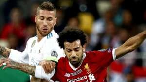 Sergio Ramos Mohamed Salah Real Madrid Liverpool 2017-18