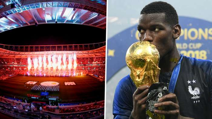 World Cup 2022 Paul Pogba France trophy 2018