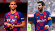Martin Braithwaite/Lionel Messi Barcelona 2019-20
