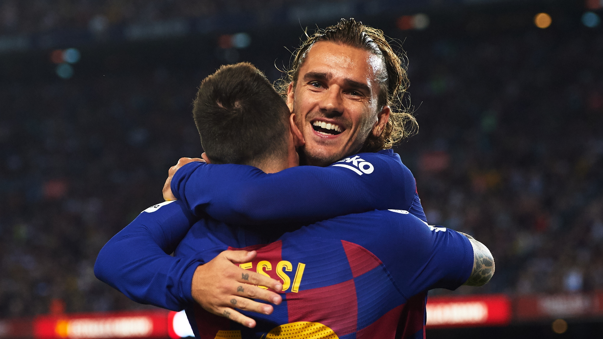 Image result for Antoine Griezmann and Messi