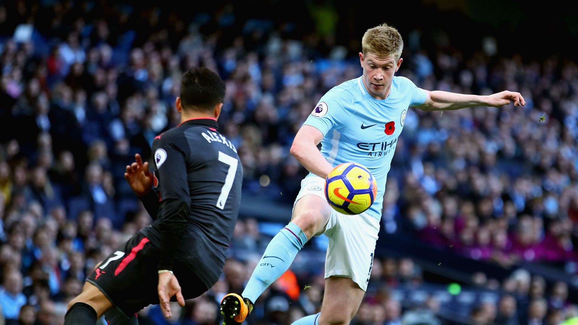 Kevin De Bruyne Alexis Sanchez Manchester City Arsenal