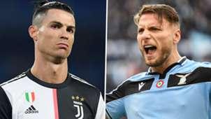 Cristiano Ronaldo Ciro Immobile Juventus Lazio Serie A 2019-20 GFX
