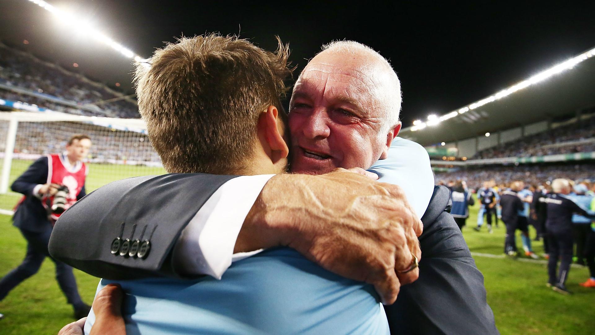 Graham Arnold Milos Ninkovic Sydney FC v Melbourne Victory A-League 07052017