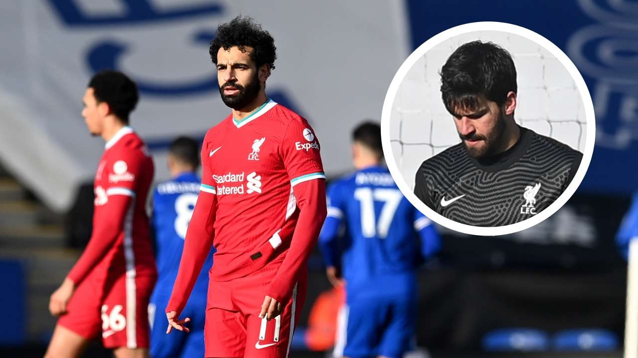 Leicester vs Liverpool, Alisson overlay