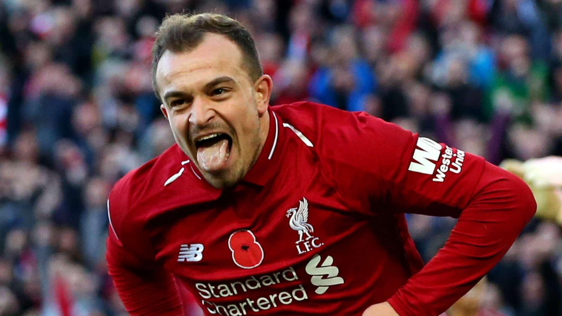 Liverpool 2 0 Fulham Xherdan Shaqiri Bringing Mohamed Salah Back To His Best Goal Com