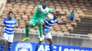 Nicholas Kipkirui of Gor Mahia vs AFC Leopards.