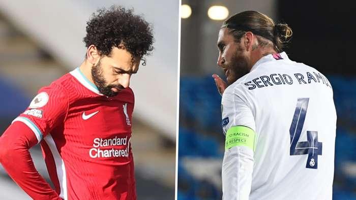Mohamed Salah Sergio Ramos Liverpool Real Madrid GFX