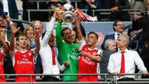 Mesut Ozil Petr Cech Nacho Monreal Arsenal FA Cup