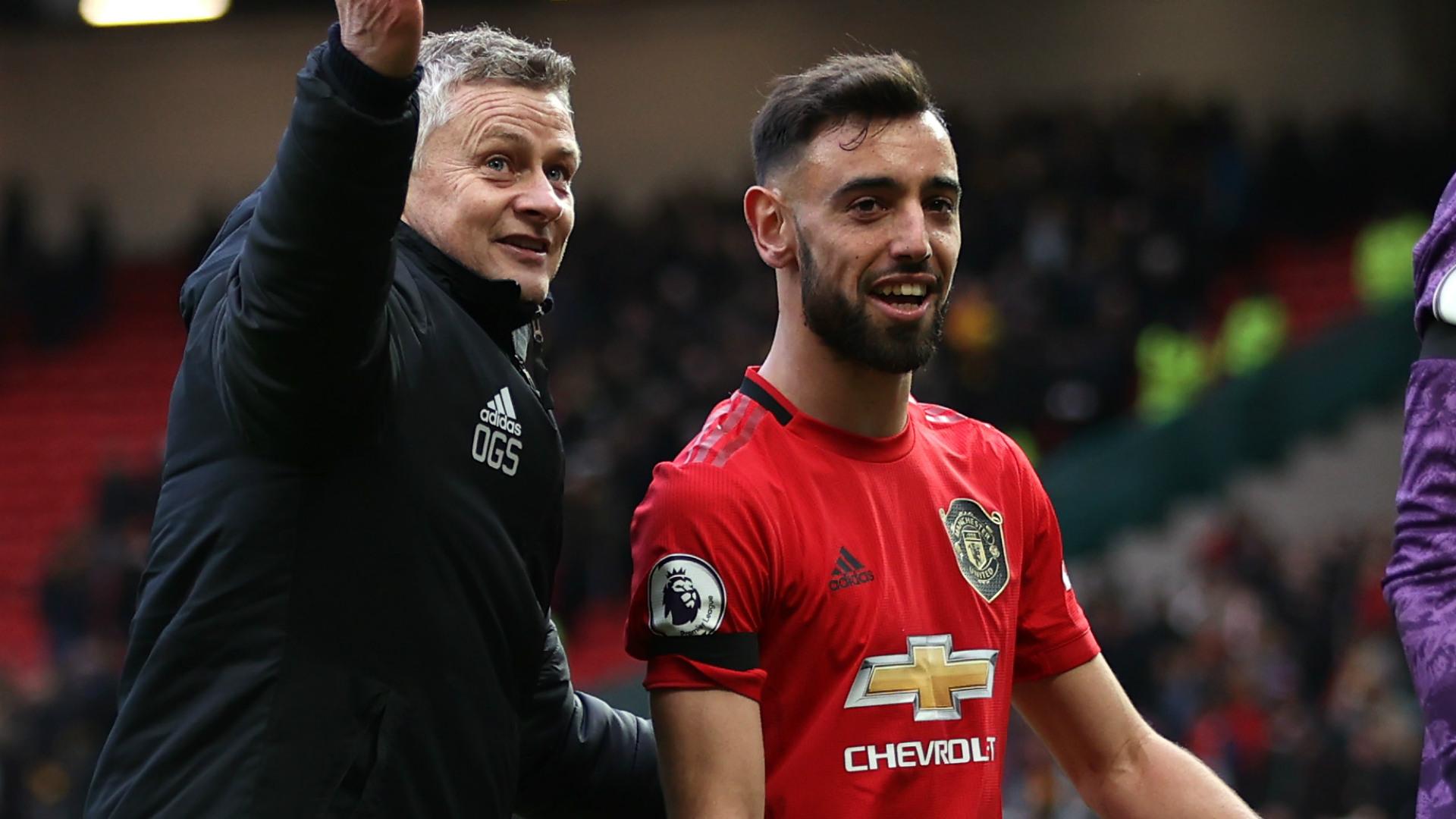 Ole Gunnar Solskjaer Bruno Fernandes Manchester United 2019-20