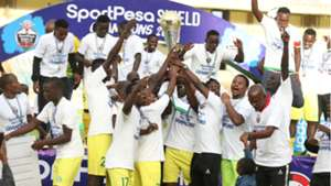 Kariobangi Sharks with FKF Shield Cup.