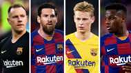 Marc-Andre ter Stegen Lionel Messi Frenkie de Jong Ansu Fati Barcelona GFX
