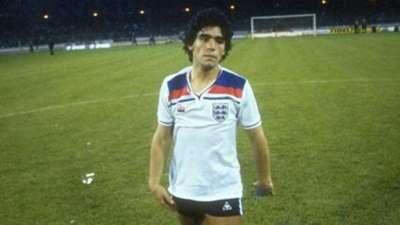 Diego Maradona England Argentina 1980