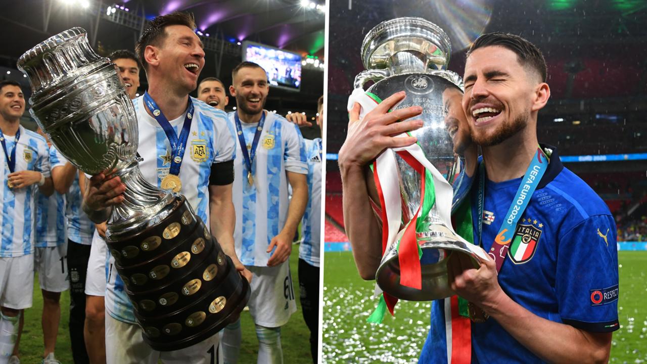 Lionel Messi Jorginho Copa America 2021 Euro 2020