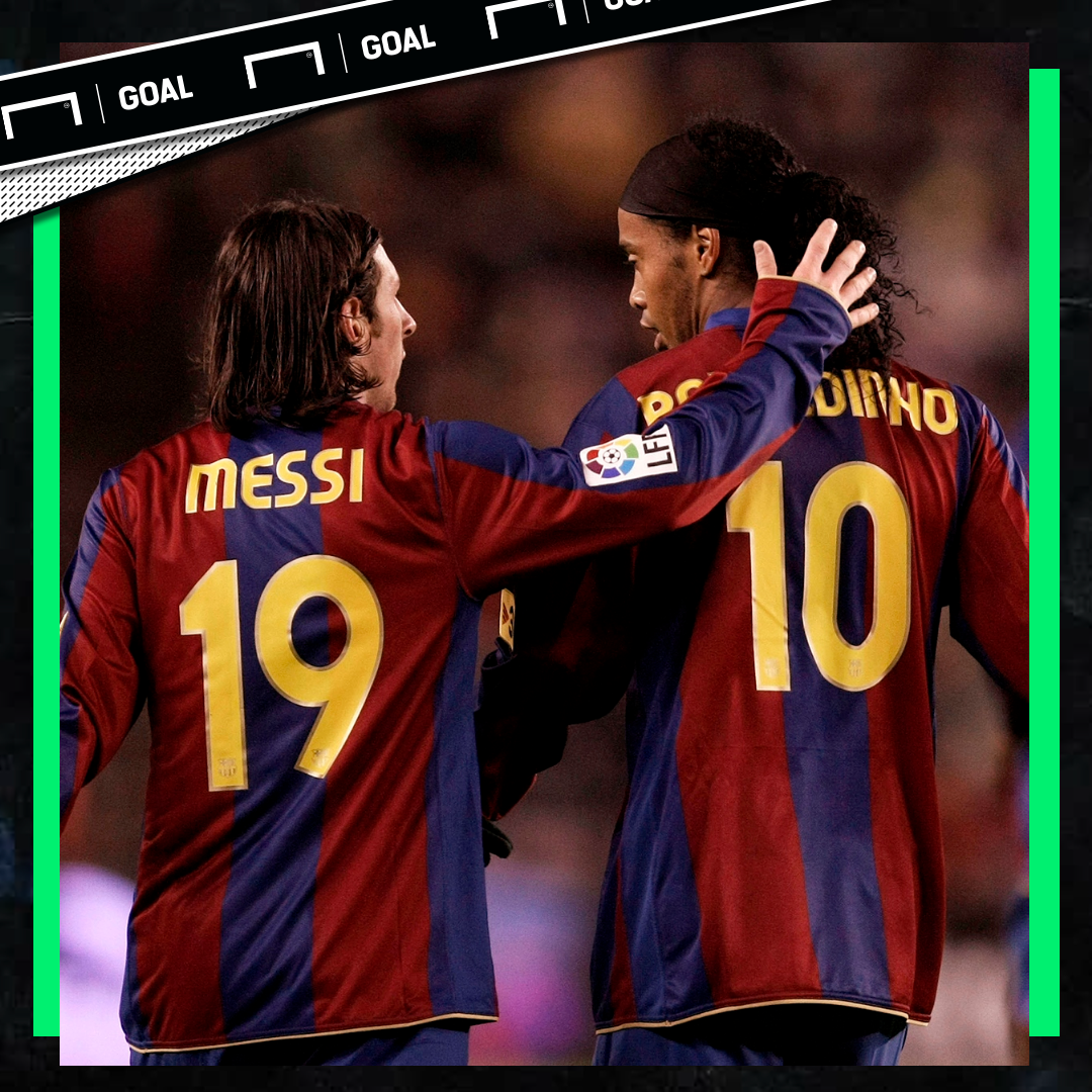 Messi Ronaldinho Barcelona PS