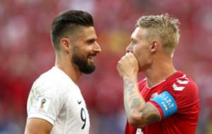 Olivier Giroud Simon Kjaer Denmark France World Cup 26062018