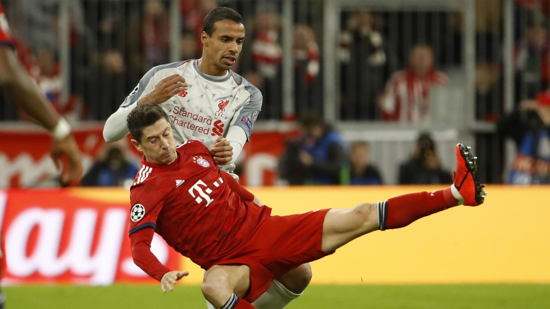 Robert Lewandowski, Joel Matip, Bayern vs Liverpool 2018-19