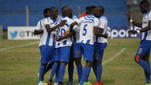 AFC Leopards players v Chemelil Sugar.